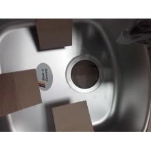 "VÝPRODEJ Franke Eurostar ETL 614 3 1/2"" , 780x435 mm, tkaná struktura + sifon R101.0058.085 PROMÁČKLÝ"